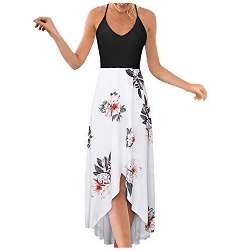 HGWXX7 Fashion Long Dress for Women Plus Size Loose V Neck Elegant Casual Beach Sexy Maxi Sleeveless Strap Open Dress