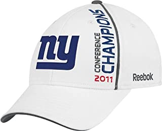 quality design 9acc5 13099 NFL Men s New York Giants 2011 NFC Conference Champions Locker Room Hat  (White, One