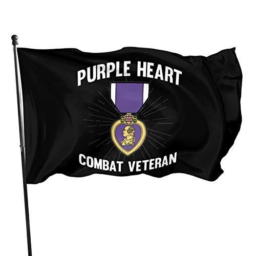 Purple Heart US Army Veteran Military Medal Outdoor Flag Home Garden Flag Banner Breeze Flag USA Flag Decorative Flag 3x5 Ft Flag