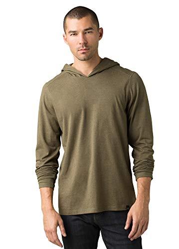 PRANA CLOTHING Slate Green Mens Hooded LS Tee, 1 EA -  M21181338