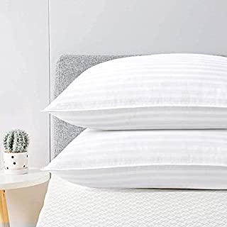viewstar Pillows for Sleeping Hotel Pillows Queen Size Set of 2, Down Alternative Bed Pillows with Natural Cotton Cover, H...