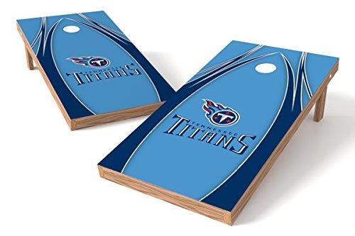Wild Sports NFL Tennessee Titans 2' x 4' V Logo Authentic Cornhole Game Set