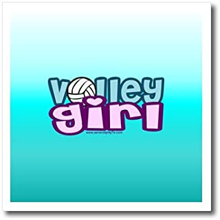 3dRose ht_13118_3 Volley Girl on Aqua-Iron On Heat Transfer, 10 by 10