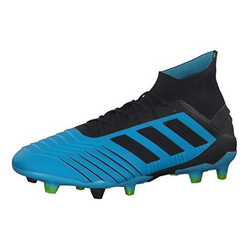 Adidas Predator 19.1 Fg Scarpe da Calcio, Uomo, Bright Cyan/Core Black/Solar Yellow, 44
