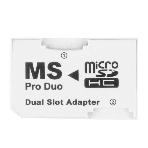 Adaptador Micro SD TF a MS Pro Duo Memory Stick 2 ranuras