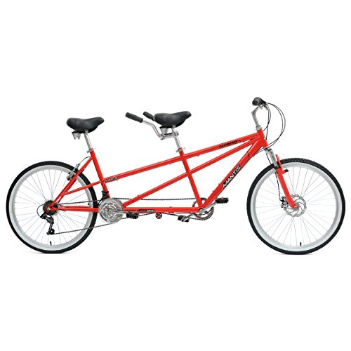 Mantis Taureno Tandem Bike, 26 inch Wheels, 18 inch Frame, Unisex, Red