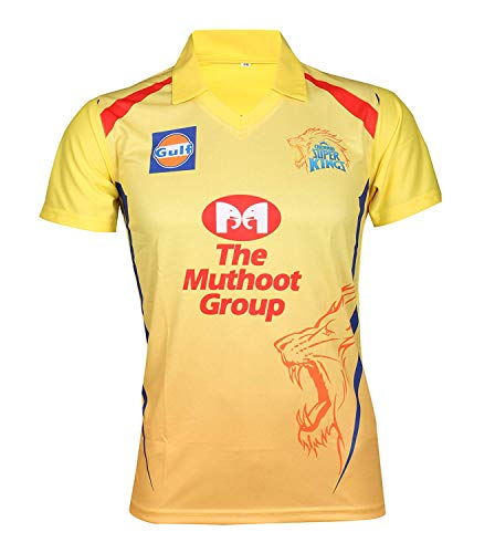 KD Cricket IPL Custom Jersey Supporter Jersey T-Shirt 2019 with Your Choice Name and Number Print (CSK,36)