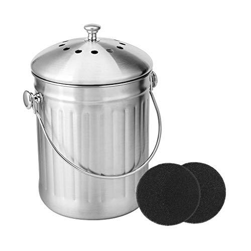 Great Deal! 2 Pcs Compost Bin Peel Bucket for Home Kitchen Odorless Compost Bucket for Kitchen Food ...