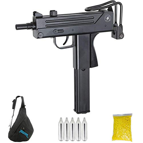 ASG INGRAM M11 | Pack Pistola de Airsoft. Arma de Aire comprimido. CO2. Calibre 6mm. 1.4 Julios.