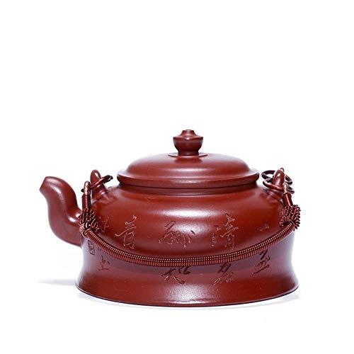 LZZ Juego de té portátil,Caja roja Grande del Mineral de la Tetera de la Tetera del pote de Ti Liang,infusor de Acero