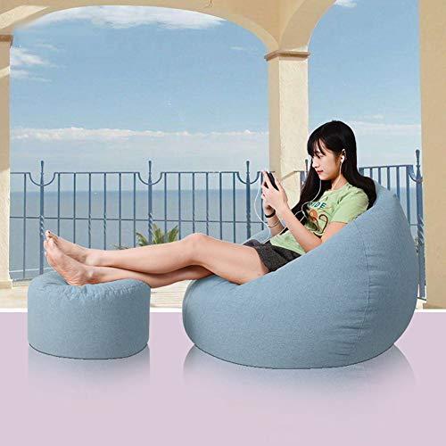 Sxmy - Pouf per divano letto singolo, in schiuma di particelle di tatami, per soggiorno, liberamente deformato, colore: Azzurro - 100 x 120