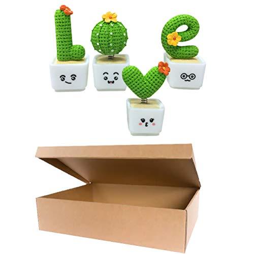 SOIMISS 4Pcs Kreative Simulation Kaktusförmige Verzierungen Dekorative Bonsai-Stütze (grün)