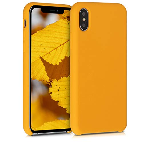 kwmobile Custodia Compatibile con Apple iPhone X - Cover in Silicone TPU - Back Case per Smartphone - Protezione Gommata Giallo Zafferano
