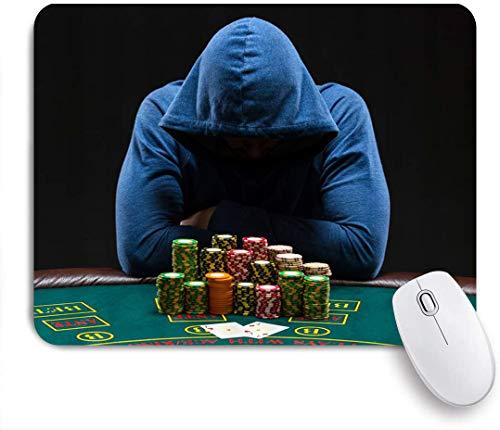 SURERUIM Mauspad - Casino Glücksspielhaus Gamestar Hardened Gambler Jeton - Gaming und Office rutschfeste Gummibasis Mauspads,240×200×3mm