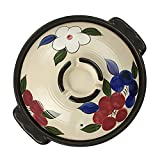 ZTSS Cazuela de cerámica con Tapa, Estilo japonés, Olla Caliente con Forma de Flor de Cerezo, Olla Redonda para Uso Diario en la Cocina
