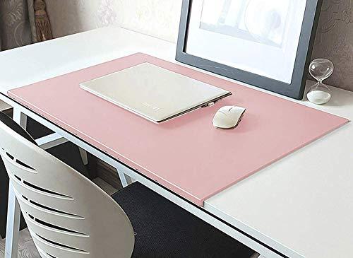 Alfombrilla de escritorio de cuero sintético con borde extendido alfombrilla de escritorio con protector de bordes suave almohadilla de escritura antideslizante para la oficina en el hogar juegos
