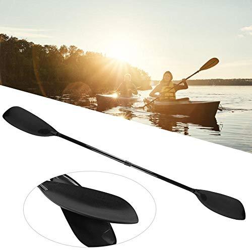 Jacksking Bootfahren Paddel, Double End Einstellbarer Winkel Carbon Paddel Standup Paddel zum Surfen Kajak Schlauchboot, Surfbrett Paddel