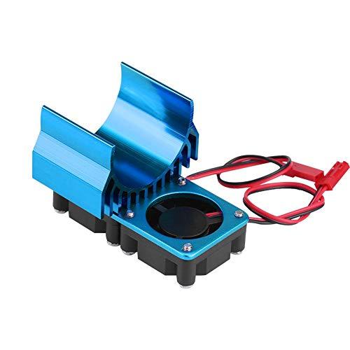 Radiatore Motore RC, Motore 540/550 Dissipatore di Calore per ventole gemelle per Auto RC elettrica in Scala 1/10(Blu)
