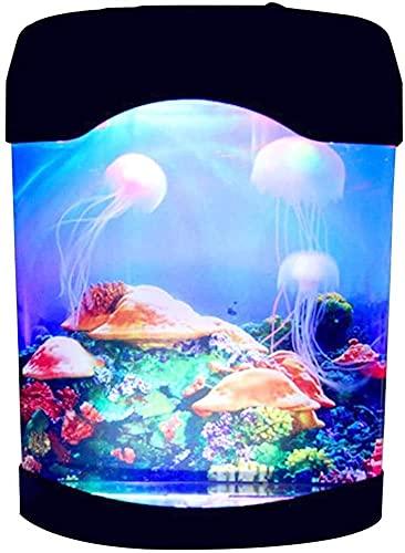 Kettles Artificial Mini Acuario Fish Tank USB Medusas Lámpara Medusas Eléctricas Tanque...