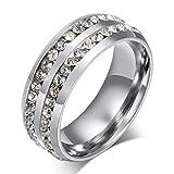ZAKAKA 指輪 メンズ ステンレス セットリングメンズ 指輪 平打ち 14号 17号 19号 21号 24号を提供する (24)