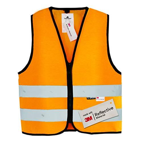 Salzmann 3M Chaleco de seguridad para niños | Hecho con cinta reflectante 3M | Naranja