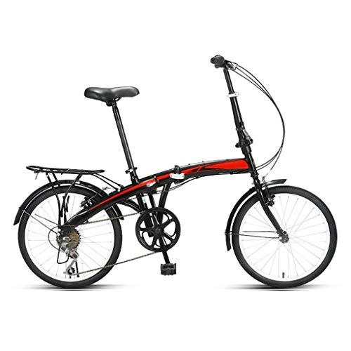 Bicicleta Plegable De 20 Pulgadas,Engranajes De 7 Velocidades Profesionales-Trabajo Ligero Para Mujer Adulto Adulto Ultra Ligero Variable Variable Portátil Portátil Pequeño Estudiante Pequeño Estudian