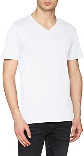 JACK & JONES Camiseta para Hombre Cuello Pico Jjeplain