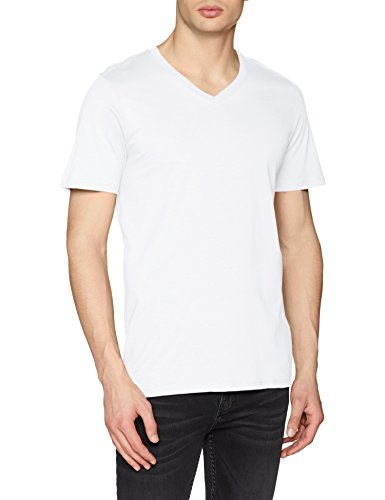 Jack & Jones Jjeplain tee SS V-Neck Noos Camiseta para Hombre