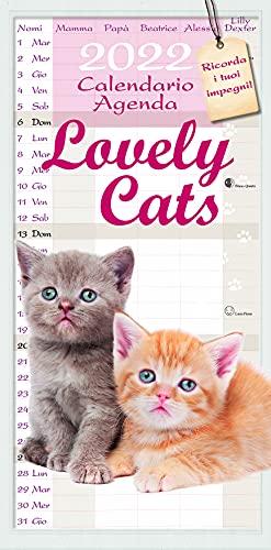 Euro publishing Calendario agenda cuccioli di gatti 2021, 22x44 cm