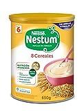 Nestlé Papillas NESTUM - Cereales para bebé, 8 cereales - 3 x 650 g - Total: 1.95 kg