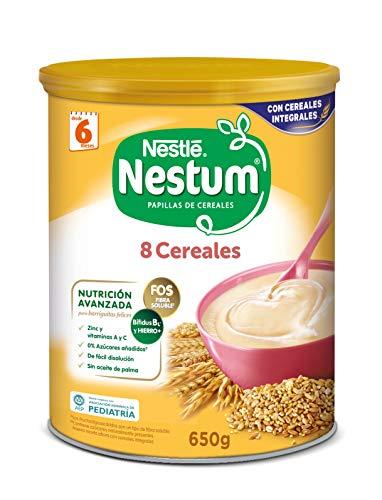 Nestlé Papillas NESTUM, Cereales para bebé, Pack de 3 x 650 gr, Total : 1,95 kg