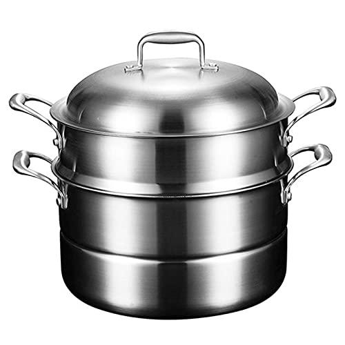 3 niveles de acero inoxidable vapor de vapor vegetal y carne pollo/cordero/carne de vaca vaporizador de vapor conjunto de la base de la base 30cm