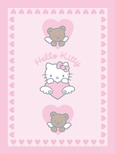 38928Hello Kitty Kuscheldecke Teddy 75x 100