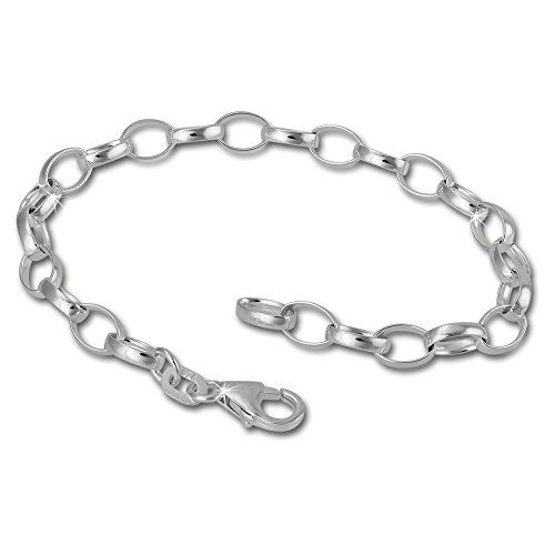 SilberDream Charms Bracelet 925 Sterling Silver 7.1inch Bracelet for Charm Pendants FC0101