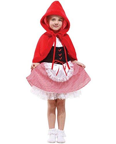 Forever Young Kids Girls Little Red Riding Hood Disfraz de Disfraces de Halloween 5-7 años