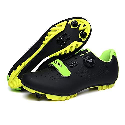 Zapatillas De Bicicleta De Montaña, Hombre Calzado De Bicicleta Zapatos De Bicicleta...
