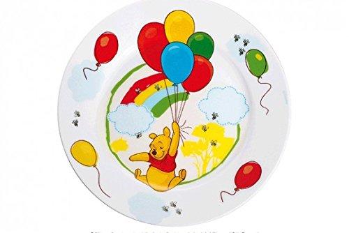 WMF Disney Winnie Pooh Kindergeschirr Kinderteller 19,0 cm, Porzellan, spülmaschinengeeignet, farb- und lebensmittelecht