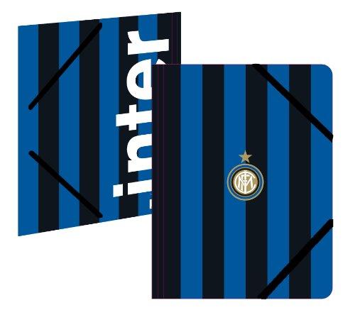Interne map, kunststof, 3 kleppen, officiële collectie Inter Mailand