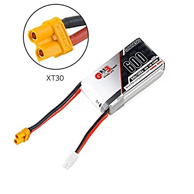 FancyWhoop GNB 600mAh 2S LiPo Battery Pack 7.4V 50C XT30 Connector for FPV Racing Drone