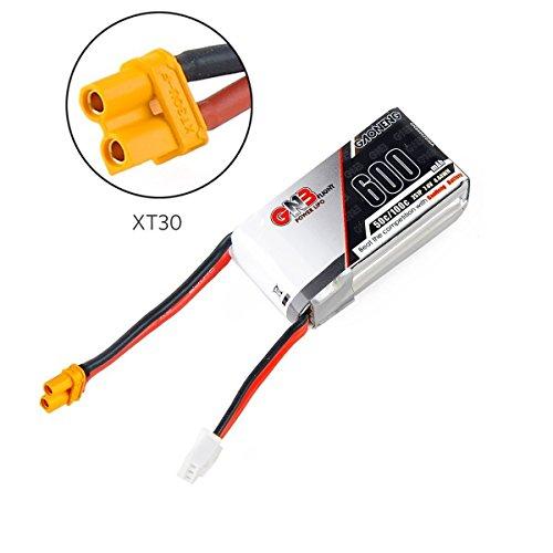 FancyWhoop GNB 600mAh LiPo batería Pack 2S 7.4V 50C XT30 Conector para FPV Racing Drone