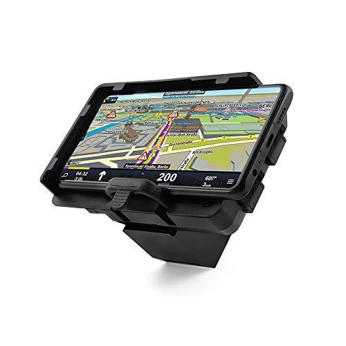 BarBaren Soporte Movil Moto Soporte Tija Moto de navegador GPS original con cargador USB para B-M-W R1200RT R1250RT 2014-2020