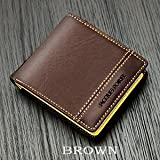 [ジャック・ポワリエ]牛革二つ折り財布-フランスの伝統-JP-5003 (茶・ブラウン)