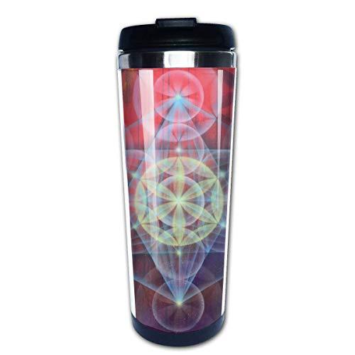 Taza de café de viaje Cubo de Metatrons Taza de café con aislamiento de acero inoxidable Botella de agua deportiva 13.5 oz (400 ml) MUG-3852