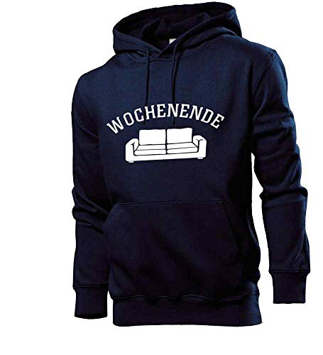 Generisch shirt84.de - Sudadera con capucha para hombre azul marino M