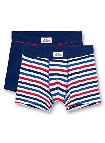 s.Oliver Jungen Shorts im Doppelpack Boxershorts, Blau (Royal Blue 5809), (Herstellergröße: 128) (2er Pack)
