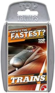 Holland Plastics Original Brand TOP Trumps - Trains - WHICH is The Fastest? Perfect for Indoors, Travelling, Camping and H...