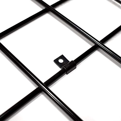 Black Gridwall Mount Brackets, Economical Grid Panel Flush Mounting Clips - 20 Pack