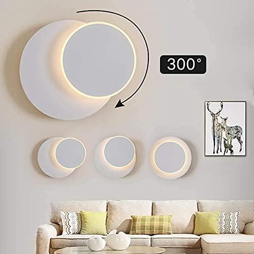 Lámpara de pared LED giratoria, lámpara de pared de interior moderna, puede girar 300 °, estilo minimalista nórdico, adecuada para pasillos, escaleras, lámparas de noche creativas para dormitorio