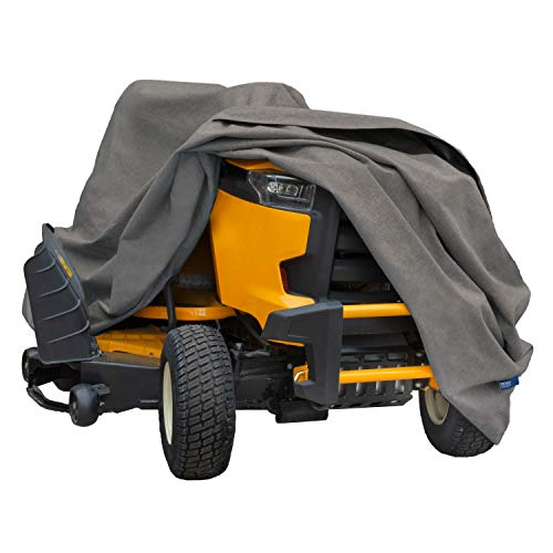 Modern Leisure 3045 Garrison Waterproof Zero-Turn & Riding Lawnmower Cover, Fits Decks up to 62 inches, 82 L x 50 W x 47 H inch, Heather Gray