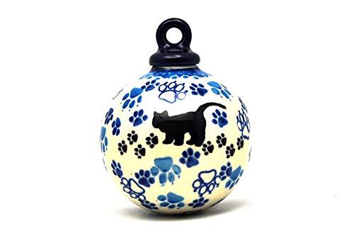 Polish Pottery Ornament - Ball - Boo Boo Kitty